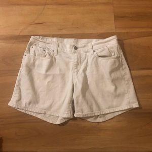 Levi's Shorts White Denim Jean High Waist  Sz 29
